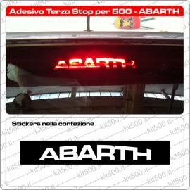 Adesivo Terzo Stop per Fiat 500 e ABARTH
