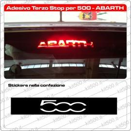Stickers Adesivo Terzo Stop per Fiat 500 e ABARTH