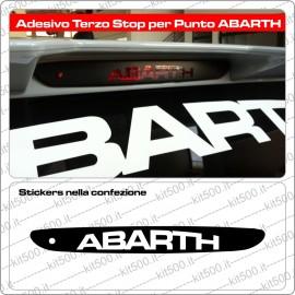 Stickers Terzo Stop per Fiat Punto e ABARTH