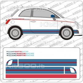 Fascia Stampata Martini per Fiat 500 e 500 Abarth