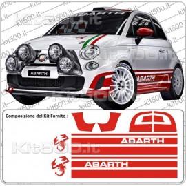 Fascia Laterale Alta Rally R3T per Fiat 500 e 500 Abarth