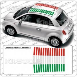 Tetto a Barre 3 colori ITA per Fiat 500 e ABARTH