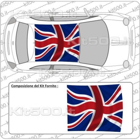 Kit Tetto Stampato Flag English per Fiat 500 e 500 Abarth