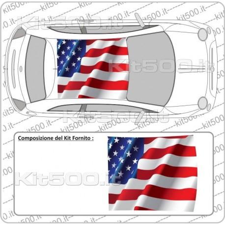 Tetto Stampato Flag America per Fiat 500 e 500 Abarth