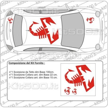Tetto con scorpione per Fiat 500 e ABARTH