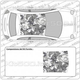 Tetto Stampato Camo Urban per Fiat 500 e 500 Abarth