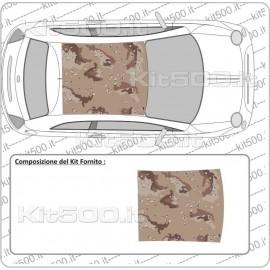 Tetto Stampato Camo Desert per Fiat 500 e 500 Abarth