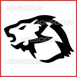 Stickers Adesivo Leone Profilo