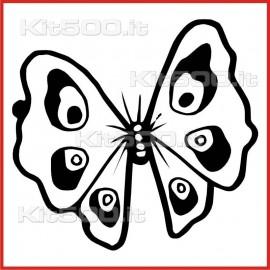 Stickers Adesivo Farfalla 006