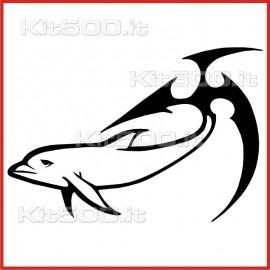 Stickers Adesivo Delfino Coda Tribale 001