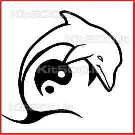 Stickers Adesivo Delfino Bene-Male