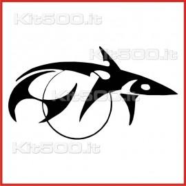 Stickers Adesivo Squalo Sole Tribale