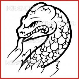 Stickers Adesivo Serpente Sibilante