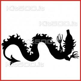 Stickers Adesivo Drago Serpe