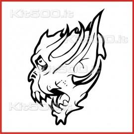 Stickers Adesivo Creatura Infernale 024