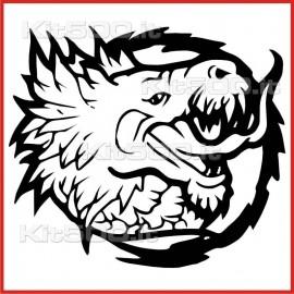 Stickers Adesivo Creatura Infernale 028