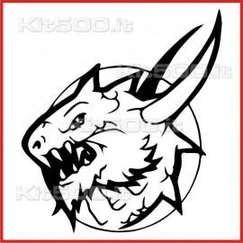 Stickers Adesivo Creatura Infernale 030