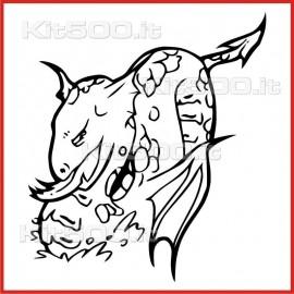 Stickers Adesivo Creatura Infernale 032