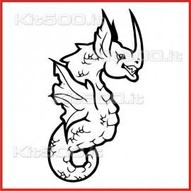 Stickers Adesivo Drago Alare
