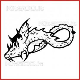 Stickers Adesivo Drago Annidato