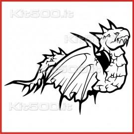 Stickers Adesivo Drago Volante
