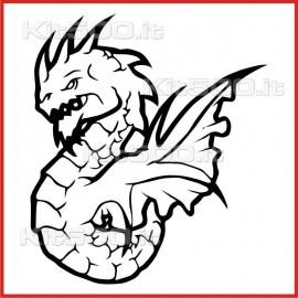 Stickers Adesivo Drago Buono
