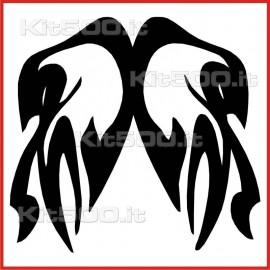 Stickers Adesivo Aquila allo Specchio