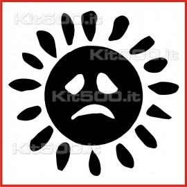 Stickers Adesivo Sole Triste Pieno