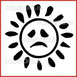 Stickers Adesivo Sole Triste Bordo