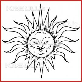 Stickers Adesivo Sole Sornione