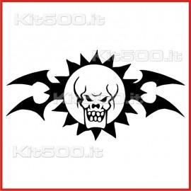 Stickers Adesivo Sole Teschio Tribale