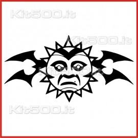 Stickers Adesivo Sole Saggio Tribale