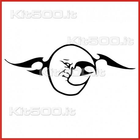 Stickers Adesivo Luna Stanca Tribale