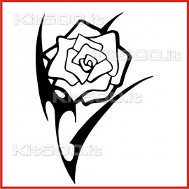Stickers Adesivo Rosa Tribale