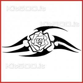 Stickers Adesivo Rosa con Lame