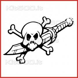 Stickers Adesivo Pugnale Pirata
