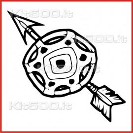 Stickers Adesivo Freccia e Scudo