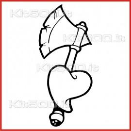 Stickers Adesivo Difesa d'Amore