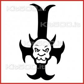 Stickers Adesivo Croce di Satana