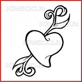 Stickers Adesivo Cuore Germoglio