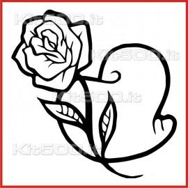 Stickers Adesivo Cuore Innamorato