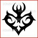 Stickers Adesivo Cuore Tribale 001