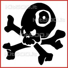 Stickers Adesivo Teschio Pirata