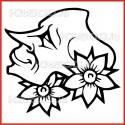 Stickers Adesivo Creatura del Male 011