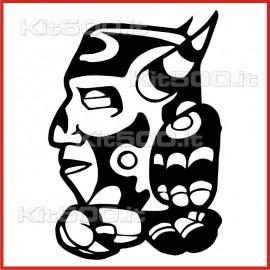 Stickers Adesivo Maschera 036