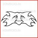 Stickers Adesivo Maschera 042