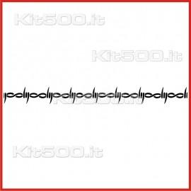 Stickers Adesivo Filo Spinato 8 Maglie